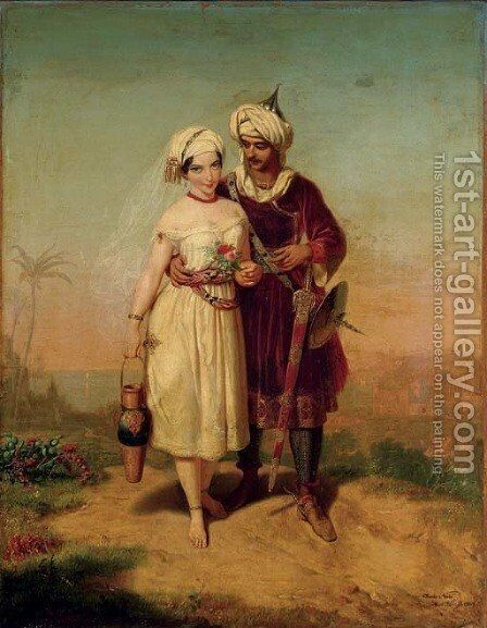 The Courtship by Charles Christian Nahl - Reproduction Oil Painting