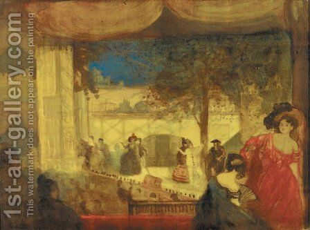 Harlequin by Charles Conder - Reproduction Oil Painting
