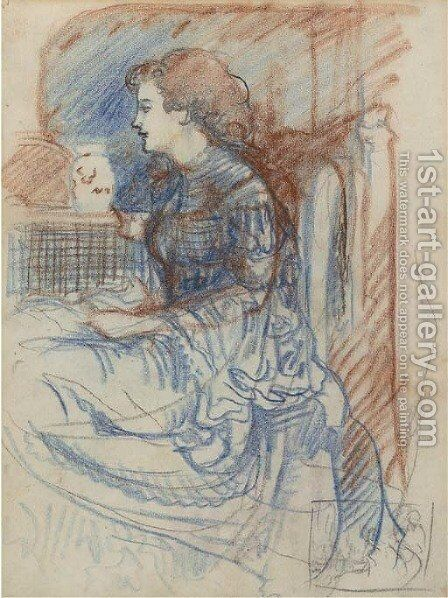 Study of a seated lady by Charles Conder - Reproduction Oil Painting