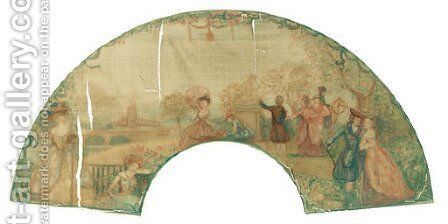 Transparent Fan by Charles Conder - Reproduction Oil Painting