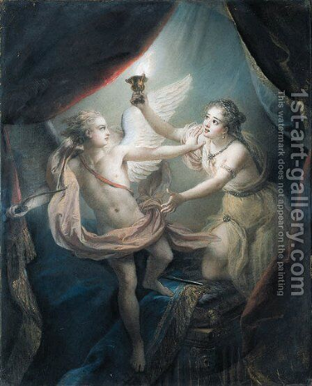 Cupid abandoning Psyche by Charles-Antoine Coypel - Reproduction Oil Painting