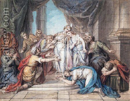 Joseph recognised by his Brethren by Charles-Antoine Coypel - Reproduction Oil Painting