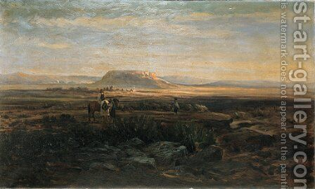 Meeting on the Mesa by Charles Craig - Reproduction Oil Painting