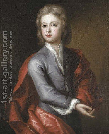 Portrait of a boy by Charles D'Agar - Reproduction Oil Painting