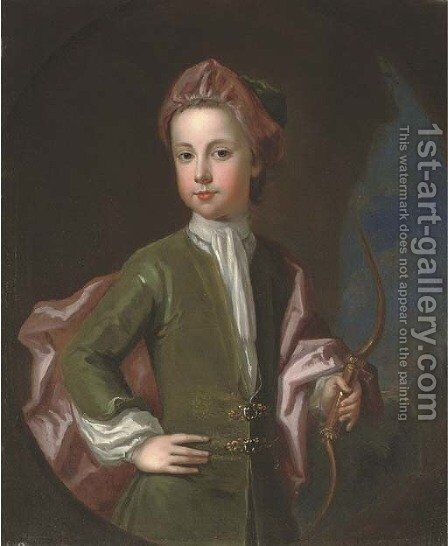 Portrait of a young gentleman of the Halsey family by Charles D'Agar - Reproduction Oil Painting