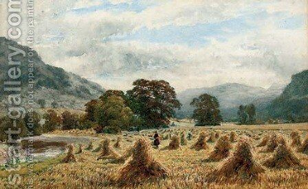 The cornfield by Charles Grant Davidson - Reproduction Oil Painting