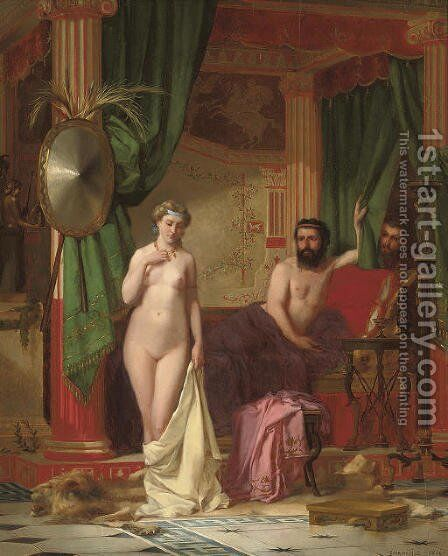 The myth of King Candaules by Charles Desire Hue - Reproduction Oil Painting