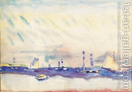 Boats and Sea by Charles Demuth - Reproduction Oil Painting
