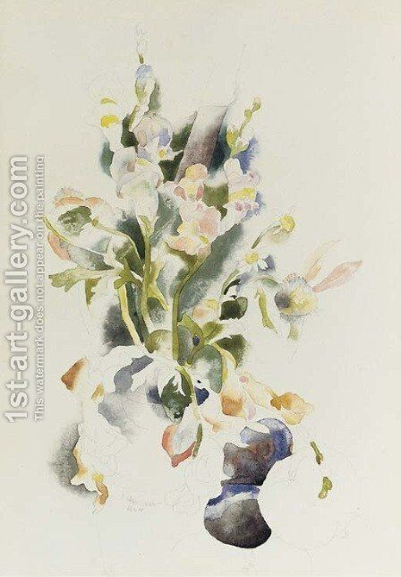 Floral Still Life 2 by Charles Demuth - Reproduction Oil Painting