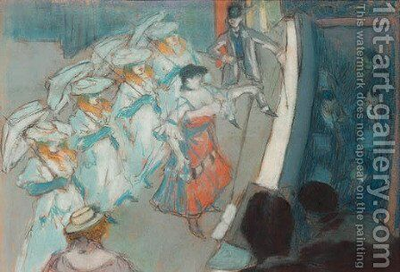 Au moulin rouge by Charles Georges Dufresne - Reproduction Oil Painting