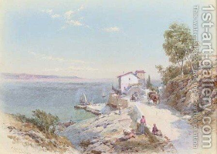 'Pollezzo', Luano, Italy by Charles Rowbotham - Reproduction Oil Painting