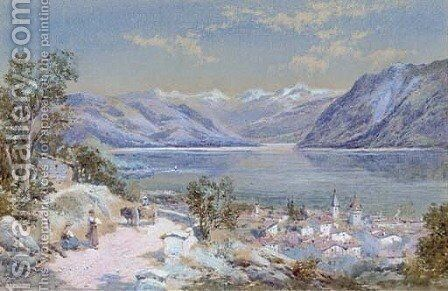 Pandex on the Lake of Lausanne by Charles Rowbotham - Reproduction Oil Painting