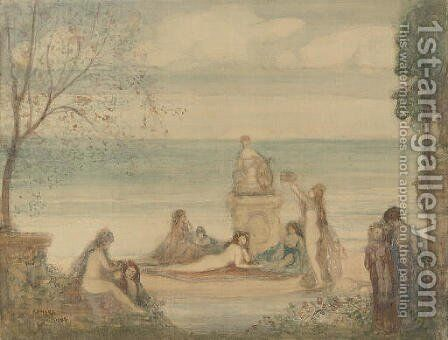 The bacchalanian offering by Charles Edward Conder - Reproduction Oil Painting