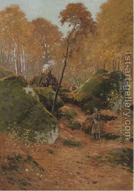 The elderly woodcutter by Charles Edward Halle - Reproduction Oil Painting
