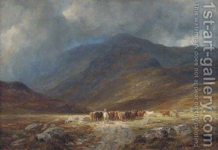 A misty day near Glencoe by Charles Edward Johnson - Reproduction Oil Painting