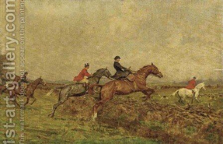 Over the fence by Charles Stewart - Reproduction Oil Painting