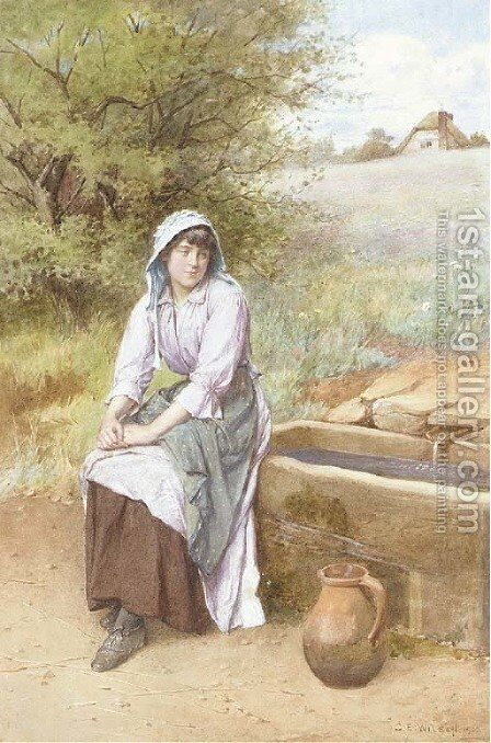 Thoughts by the wayside by Charles Edward Wilson - Reproduction Oil Painting