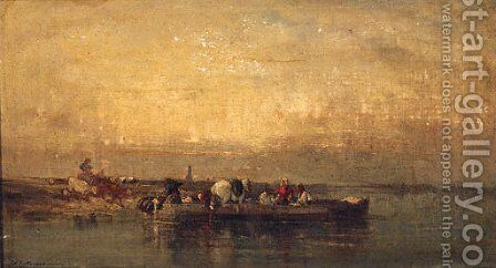 Fishing Off The French Coast by Charles de Tournemine - Reproduction Oil Painting