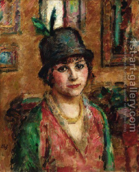 The new hat by Charles Francois Prosper Guerin - Reproduction Oil Painting
