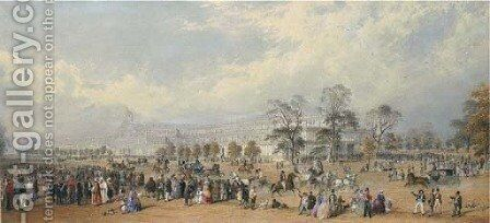 The Great Exhibition, Crystal Palace, 1851 by Charles Frederick Buckley - Reproduction Oil Painting