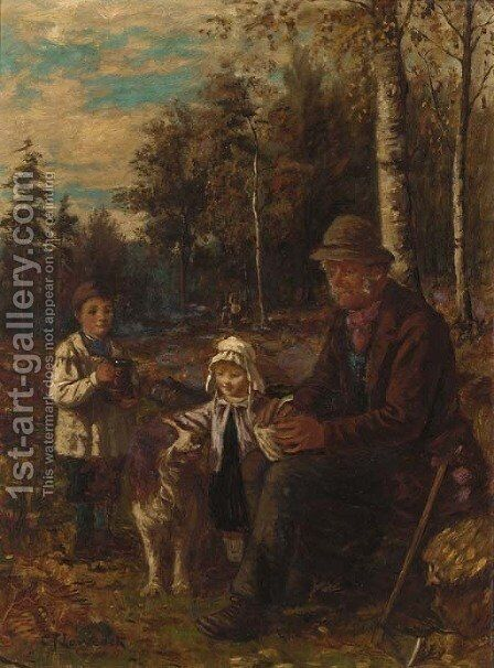 The woodman by Charles Frederick Lowcock - Reproduction Oil Painting