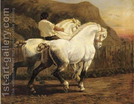 Heavy horses by Charles Fullwood - Reproduction Oil Painting