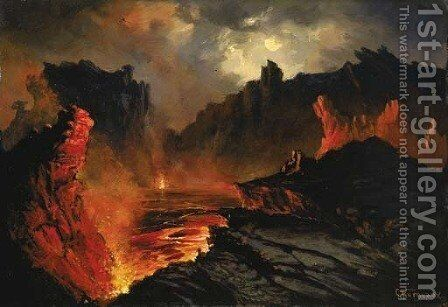 Kilauea by Charles Furneaux - Reproduction Oil Painting