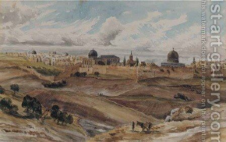 Jerusalem from the Mount of Olives by Charles Gilbert Heathcote - Reproduction Oil Painting