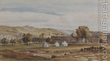 Jerusalem from the north west by Charles Gilbert Heathcote - Reproduction Oil Painting