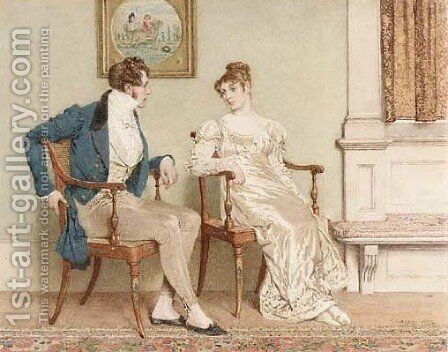 The Courtship by Charles Green - Reproduction Oil Painting