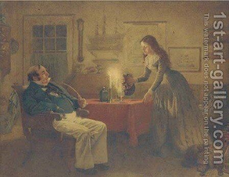 Captain Cuttle and Florence Dombey by Charles Green - Reproduction Oil Painting