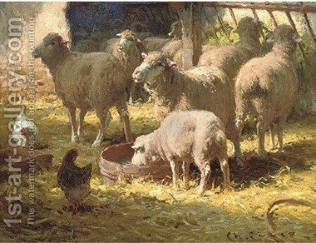 The Sheepfold by Charles H. Clair - Reproduction Oil Painting