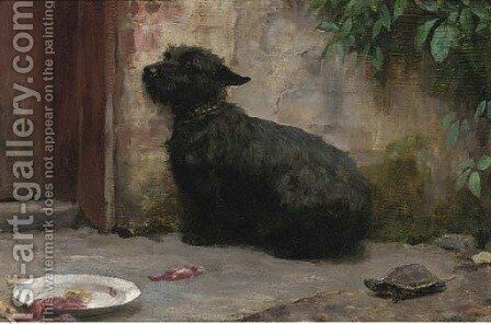 Cowards die may times before their death by Charles H.D. Boland de Spa - Reproduction Oil Painting