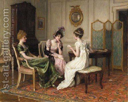 The fortune teller by Charles Haigh-Wood - Reproduction Oil Painting