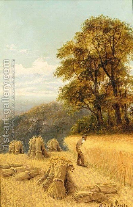 Harvesting by Charles Henry Passey - Reproduction Oil Painting