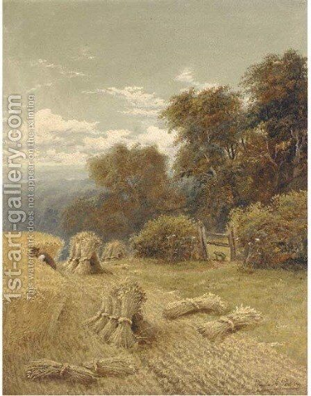 Harvesting 2 by Charles Henry Passey - Reproduction Oil Painting