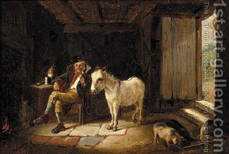 A welcome visitor by Charles Hunt - Reproduction Oil Painting