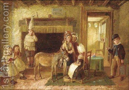The new pupil by Charles Hunt - Reproduction Oil Painting