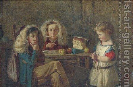 The trial by Charles Hunt - Reproduction Oil Painting