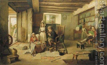 The wounded soldiers by Charles Hunt - Reproduction Oil Painting