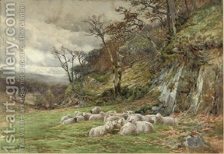 Sheltering from the storm by Charles James Adams - Reproduction Oil Painting