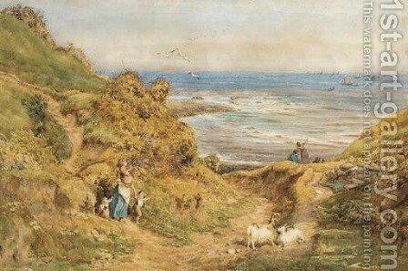 The return of the fishing fleet, Whitby by Charles James Adams - Reproduction Oil Painting