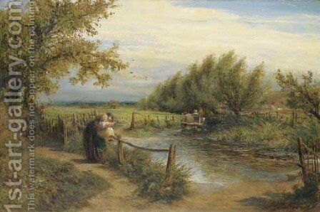 The Way to the Mill by Charles James Lewis - Reproduction Oil Painting