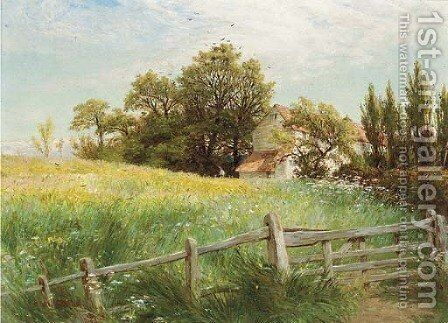 A summer's breeze by Charles James Lewis - Reproduction Oil Painting