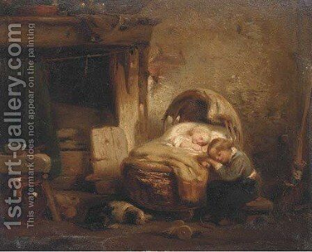 Sweet dreams by Charles James Lewis - Reproduction Oil Painting