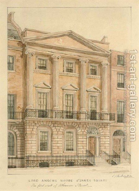 Lord Anson's House in St James's Square by Charles James Richardson - Reproduction Oil Painting