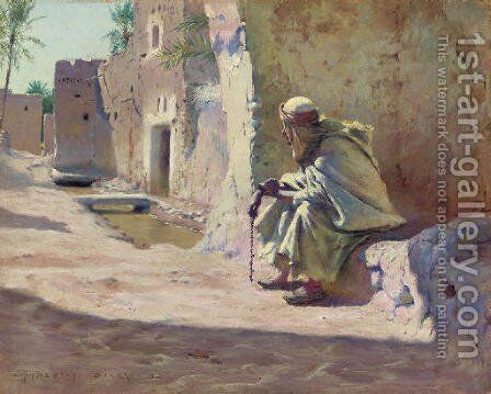 In the Shade, Biskra by Charles James Theriat - Reproduction Oil Painting