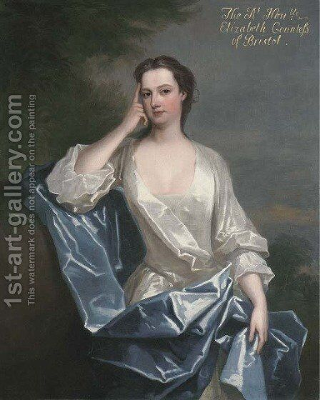 Portrait Of A Lady, Traditionally Identified As Elizabeth Felton, Of Playford, Later Countess Of Bristol (1677-1741), Three-Quarter-Length by Charles Jervas - Reproduction Oil Painting