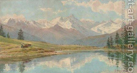 Montana, a crisp morning by Charles Jones Way - Reproduction Oil Painting