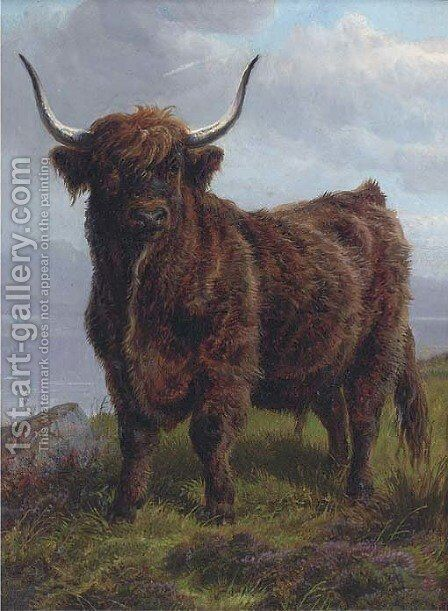 The monarch of the glen by Charles Jones - Reproduction Oil Painting